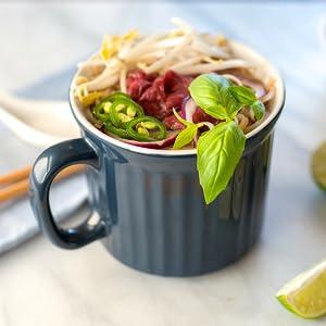 Corningware, Pop Ins, coffee mug, dishwasher safe, freezer safe, microwave safe, stoneware mug