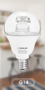 Lohas 3w Led Light Bulb G14 Led 25w Equivalent Light E26