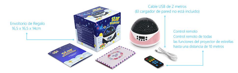 AnanBros Proyector Estrellas Bebes, Luz Noche Infantil Con ...