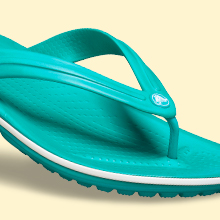 Made with the undeniably comfortable Croslite foam.
