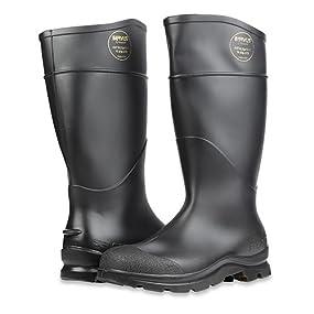 "Servus Comfort Technology 14"" PVC Steel Toe Men's Work Boots, PVC Boots"