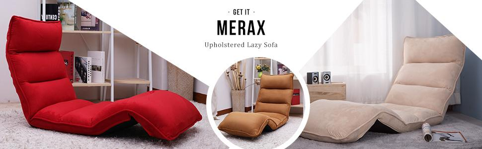 Surprising Merax Foldable Floor Chair Relaxing Lazy Sofa Bed Seat Couch Lounger Coffee Alphanode Cool Chair Designs And Ideas Alphanodeonline
