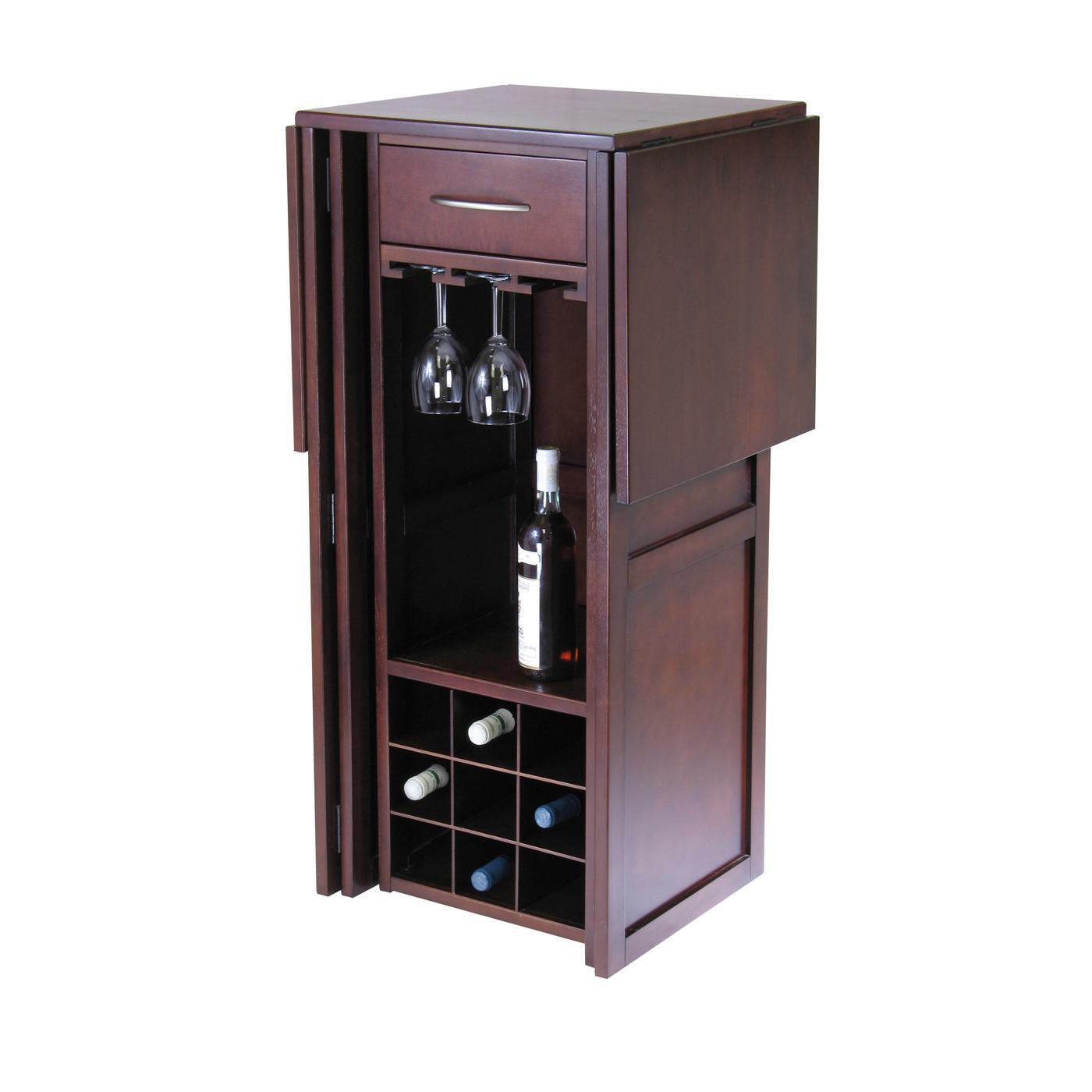 Kitchen Bar Cabinets: Amazon.com: Winsome Newport Expandable Wine Bar: Kitchen