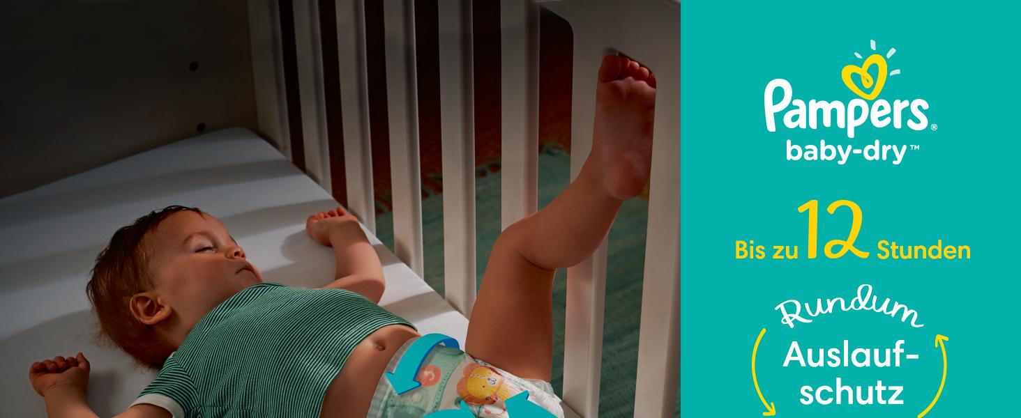 42 Windeln Pampers Baby-Dry Gr/ö/ße 3 bis zu 12/Stunden Rundumschutz 6-10kg