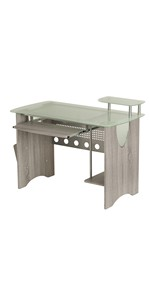 Frosted Glass Desk Grey