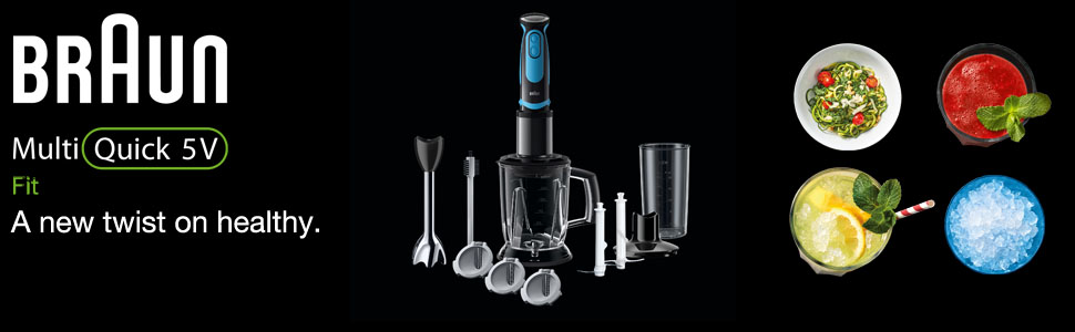 Braun MultiQuick 5 Vario; Hand Blender; MQ5064BKBL; stick blender; food processor