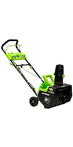 earthwise electric powerful snow blower thrower shovel plow winter weather house corded cordless