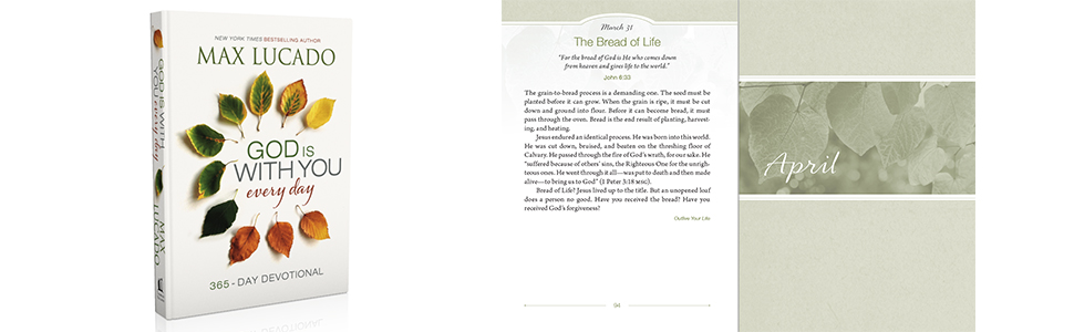 God Is With You Every Day, Daily Devotional, Max Lucado