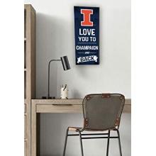 Illinois Fighting Illini Love You To College Logo Plaque