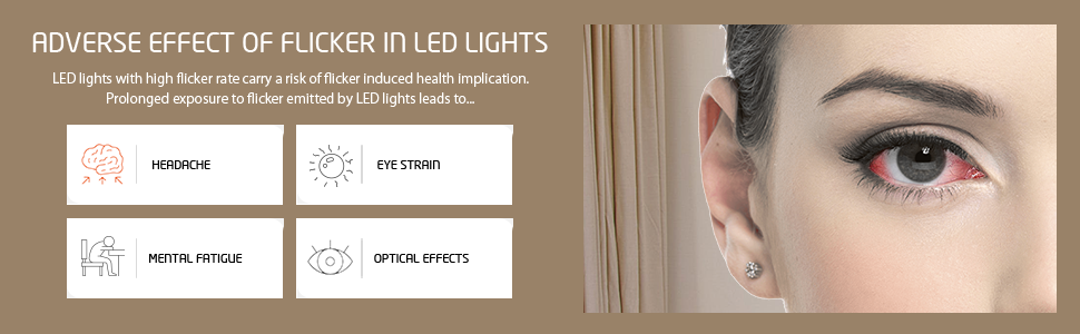 Adverse effects - solution is Orient EyeLuv Flicker free lights - LED battens and Bulbs