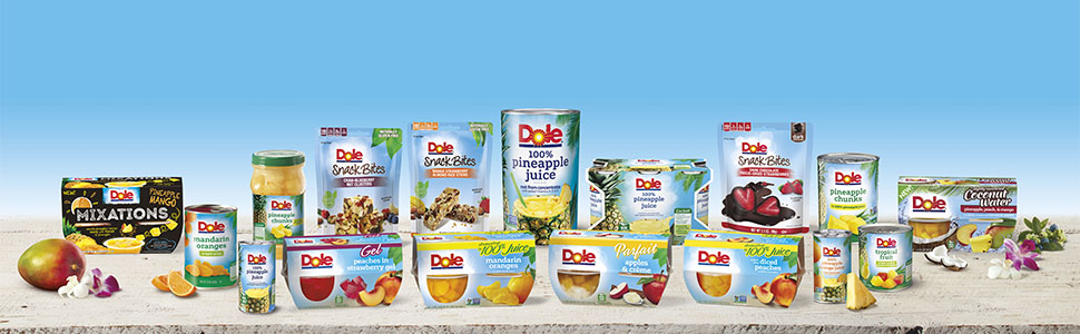 Dole fruit cups bowls canned organic non gmo peaches dried pears pineapple fruit salad