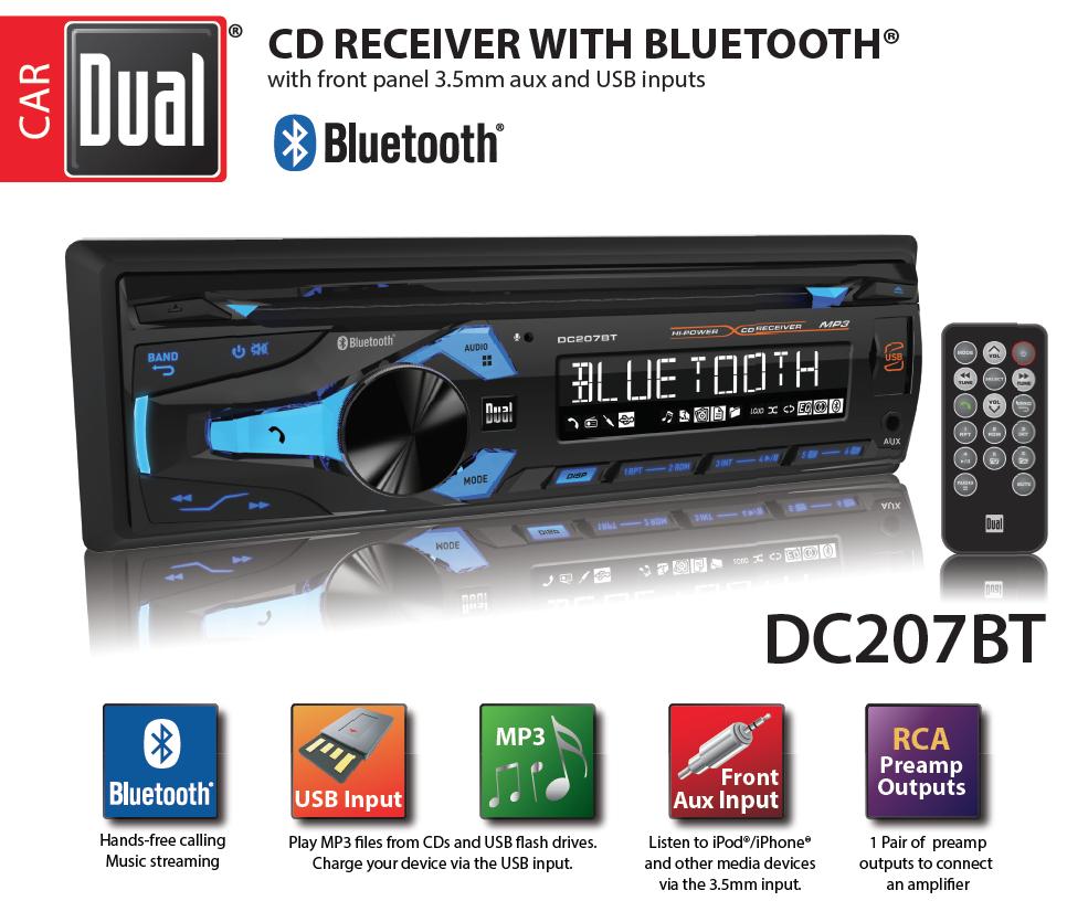 Dual Electronics Dc207bt Multimedia 3 Inch Lcd Single Din