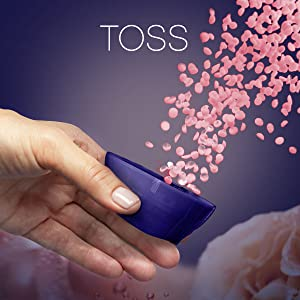 toss downy infusions scent booster beads, washing machine, washer, clothing, fabric enhancer