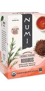 numi organic rooibos tea bags
