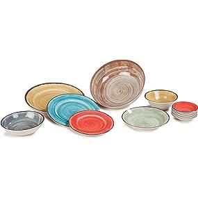 bright plates; mexican plates; fiestaware; fiesta ware; fiesta plates