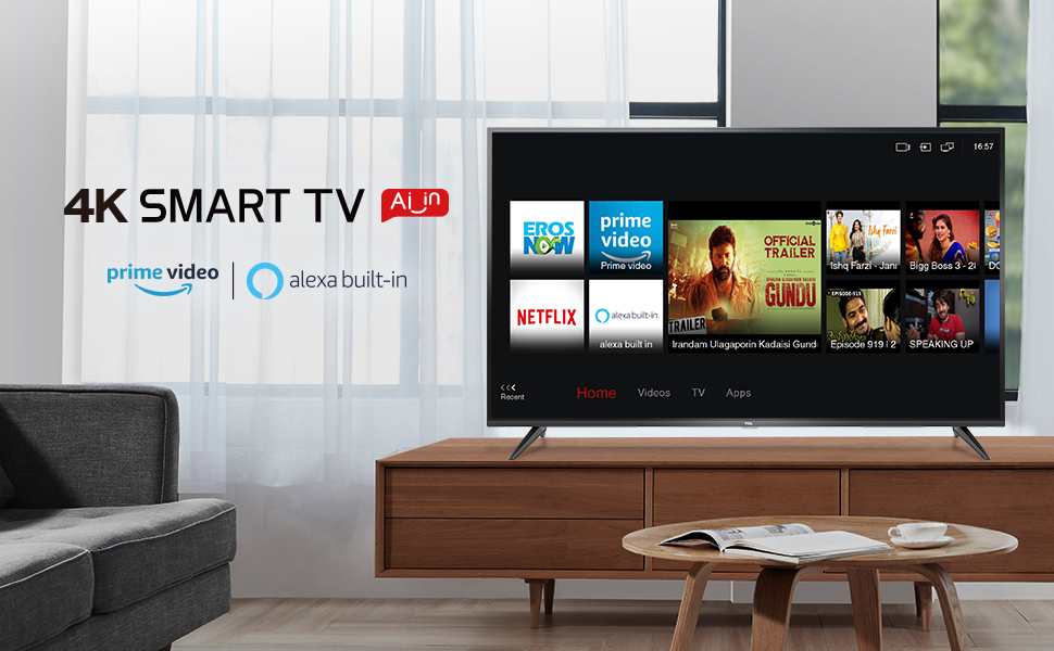 The real 4K smart tv with alexa and prime video