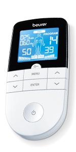 beurer em 49 massage tens ems apparat elektrisk nervstimulering muskelstimulering massageapparat