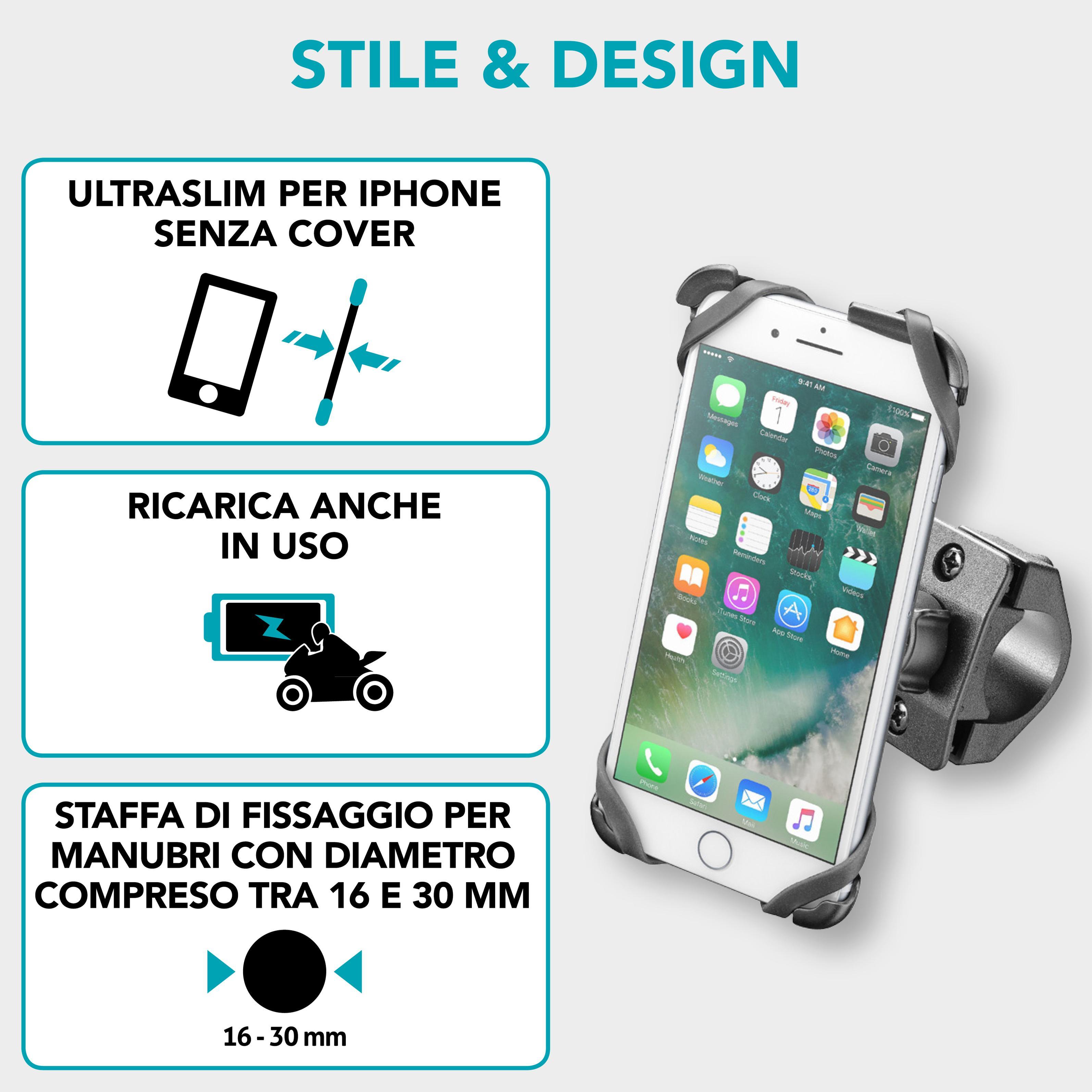 CELLULAR LINE iCASE COVER IPHONE 7 - Cover e supporto moto