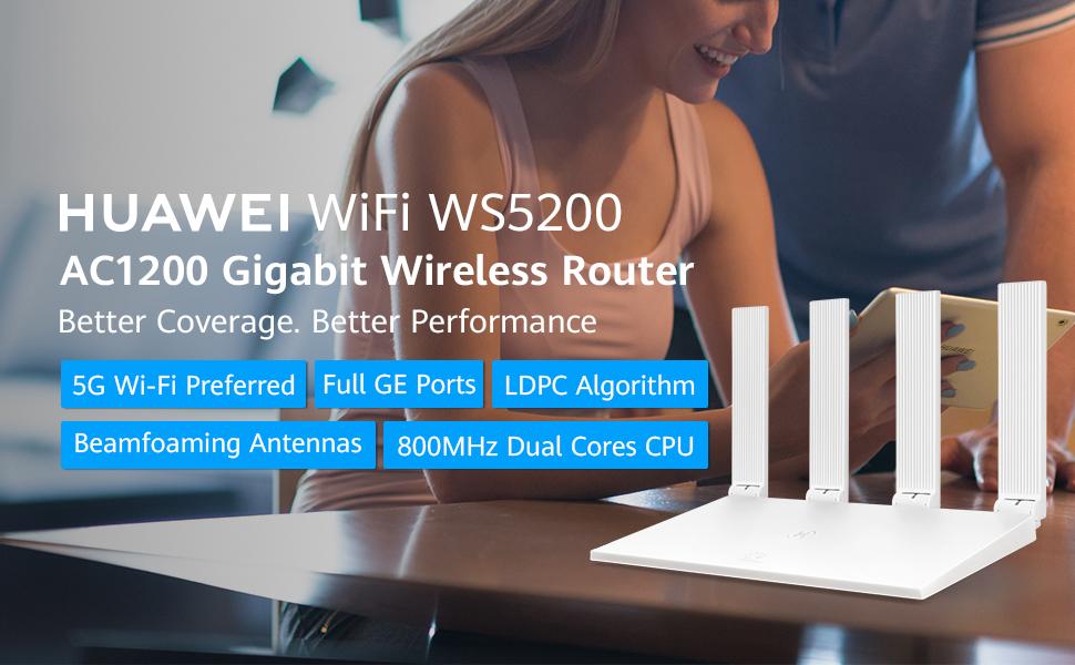 huawei wifi 5200 AC1200 gigabit wireless router
