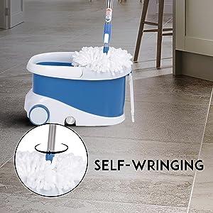 Mop with Bucket, Mop