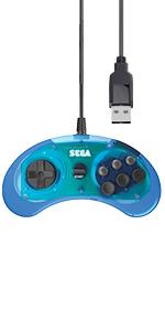 6 button blue