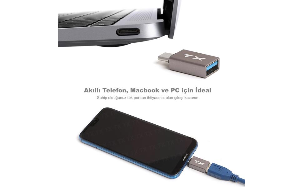 TX USB3.1 Type-C Dönüştürücü ile USB 3.0 Yuvasına Sahip Olun !