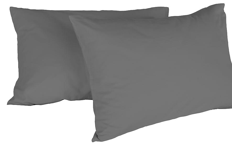 Federe Cuscino Letto con patella in cotone Coppia misura cm 50x80-21 COLORI