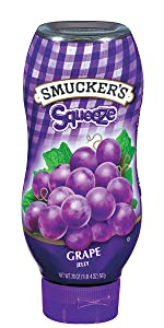 Smucker's Squeeze Grape Jelly, PBamp;J, peanut butter and jelly, jam, preserves, fruit spread