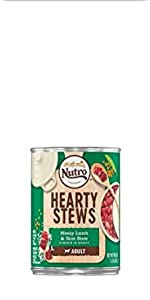 Nutro Hearty Stews, Real ingredients, No chicken by products