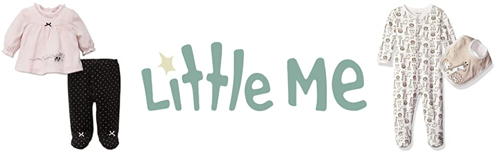 54462da98e4 Amazon.com  Little Me Girls  Footie  Clothing