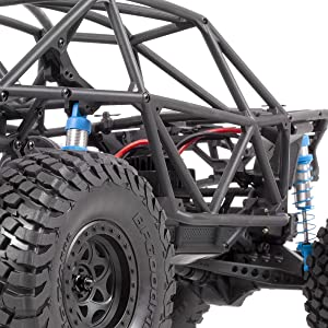 Detail view of RR10 Bomber's composite tub frame chassis that provides strength and scale looks