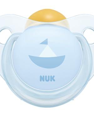 NUK - 2 Chupetes Fisiologicos Classic Rose & Blue Látex T1 ...