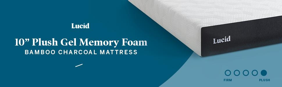 10 in plush gel memory foam mattress