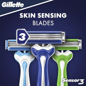 Skin sensing blades