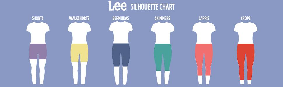 Lee Women's Legendary Regular Fit Mid Rise Rolled Utility Short