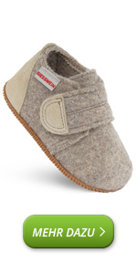 Pantuflas con cierre de velcro, cálidas, para niños, lana de fieltro