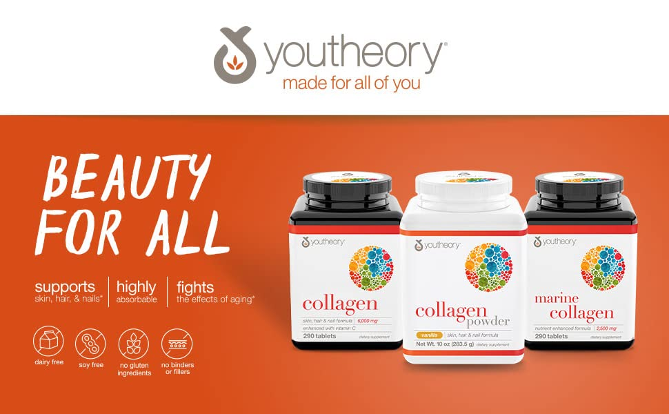 beauty,hair, skin, collagen, support, absorption, aging,marine, no soy, gluten, dairy ,vanilla