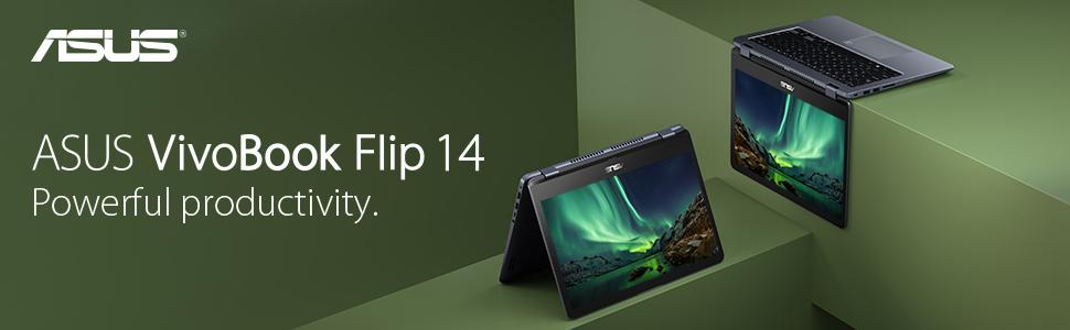 """ASUS VivoBook Flip 14 TP410UA-DS71T 14"""" Thin and Lightweight 2-in-1 Full HD Touchscreen Laptop"""