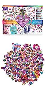 jewelry craft kit for kids DIY bracelets for girls puffy sparkley glitter sticker crafts kids gift