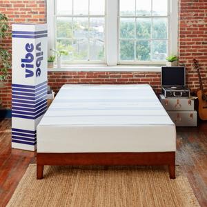Classic Brands Vibe 12-Inch Gel Memory Foam Mattress, Queen, bed in a box, purple, casper