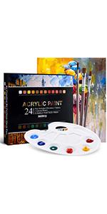 TOPELEK 29pcs Acrylic Paint Kit