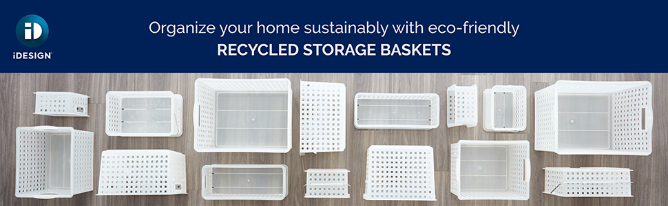 organize organization storage basket bin container recycled recyclable sustainable