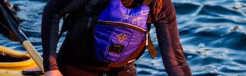 Edge, whitewater pfd, sailing pfd, comfortable pfd, multi purpose lifejacket