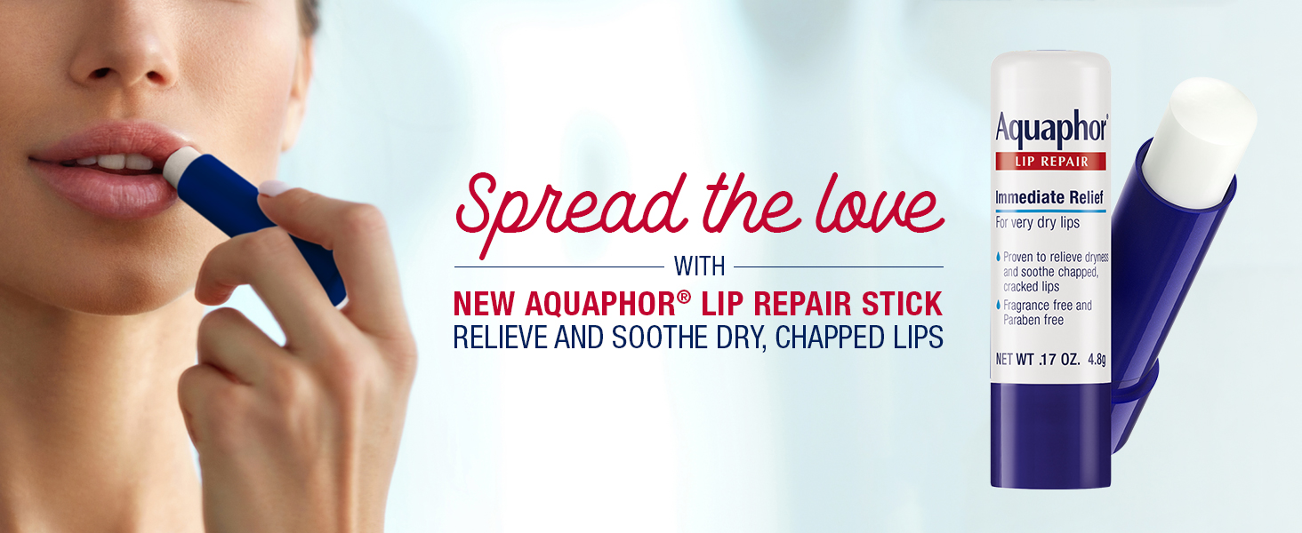 Aquaphor Lip Repair Stick, spread the love, relieve and soothe dry chapped lips