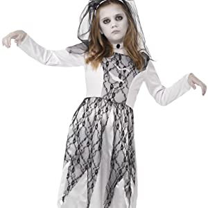 Kinder Mädchen Geisterbraut Kostüm