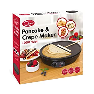 Quest 35540 benross electric pancake crepe maker with spreader 1000 quest pancake crepe maker ccuart Images
