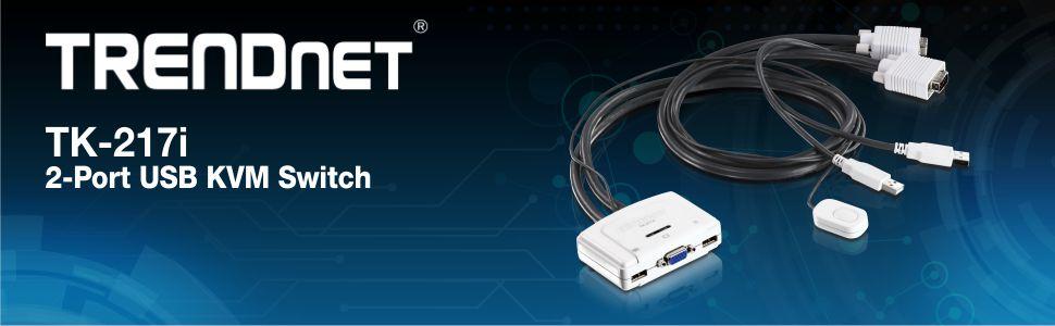 2-Port USB KVM Switch, KVM, 2-Port