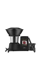 Taurus Mycook Touch Black Edition - Robot de Cocina, wifi, 1600W, 2L, hasta 140 grados, multifunción, más de 8000 recetas, Vaporera 2 niveles y cestillo: Amazon.es: Hogar