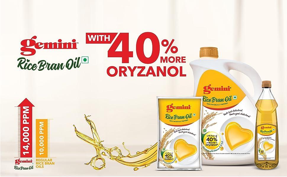 Gemini Rice bran oil Pouch 1 Litre