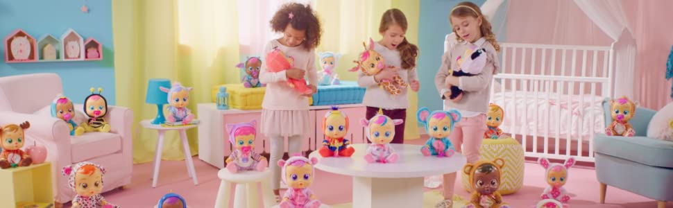IMC Toys 96295 Lady - Muñeca Bebés Llorones, Multicolor